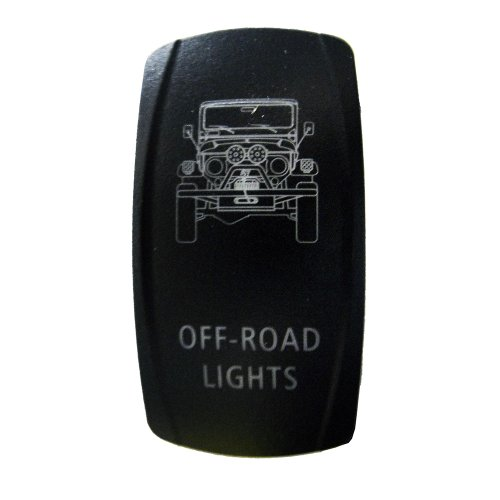 Rocker Switch Toyota Land Cruiser 40 Series Off-Road Lights Symbol - Blue Led