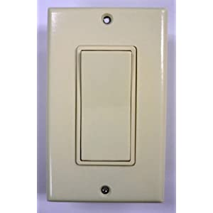 Leviton 3 Way Switch with Wallplate, Almond