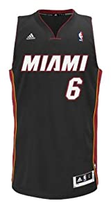 NBA Miami Heat LeBron James Swingman Jersey, Black, Small