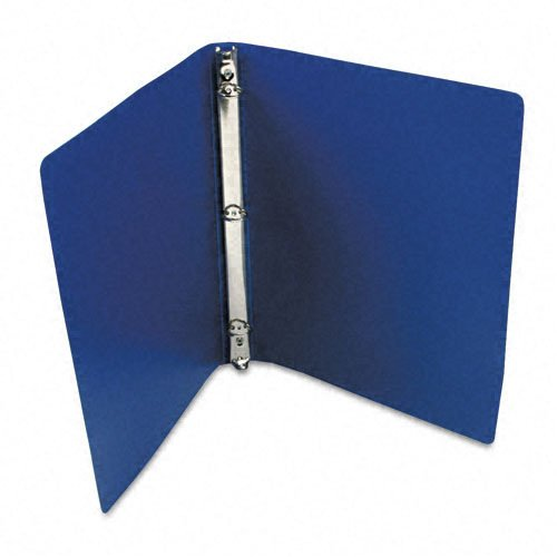 ACCO AccoHide Round Ring Binder, 8.5 x 11 Inches, 1/2 Inch Capacity, Flexible Cover, Dark Royal Blue (A7039702A)
