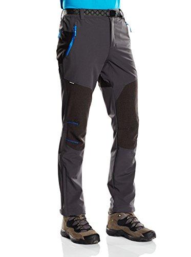 Izas Aletch - Pantaloni da trekking da uomo, UOMO, Aletch, Gris / Negro / Azul royal, M