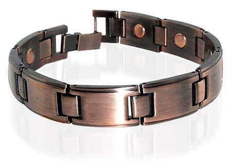 Copper Clad Magnetic Link Bracelet 8.5