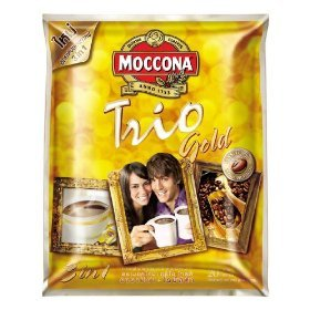 Moccona Trio Gold Arabita and Robuta Instant Coffee Mixed 400g. Pack 20 Sachets