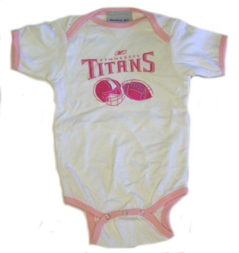 Nfl Licensed Tennessee Titans Pink And White Onesie (6-12 Months) front-485954