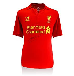 Steven Gerrard Liverpool signed 2012-2013 shirt - Warrior Sports by A1 Sporting Memorabilia