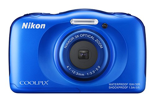 Best Review Of Nikon COOLPIX S33 Waterproof Digital Camera (Blue)