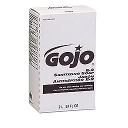 GOJO 2280-04 NXT E-2 Sanitizing Lotion Soap, 2000 mL (Case of 4)