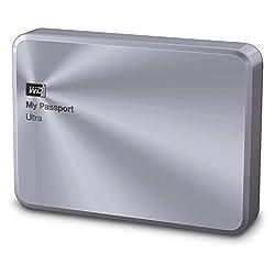 WD 4TB Silver My Passport Ultra Metal Edition Portable External Hard Drive - USB 3.0 - WDBEZW0040BSL-EESN