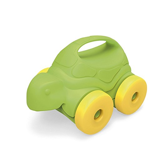 Green Toys Turtle-on-Wheels, Green/Yellow