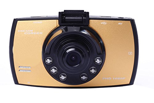 niceeshop(TM) 2.7 Inch Bildschirm HD1080P Video Audio Kamera Recorder CARcorder Fahrzeug Blackbox Auto DVR, (Gelb, Set von 5)