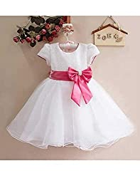 Snoby Lovely white Prncess Party Frock(SBY860)