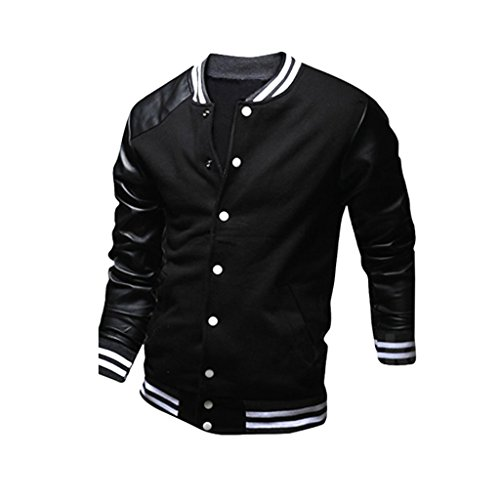 mnbs herren college jacke baseball leder rmel bomber jacke varsity. Black Bedroom Furniture Sets. Home Design Ideas