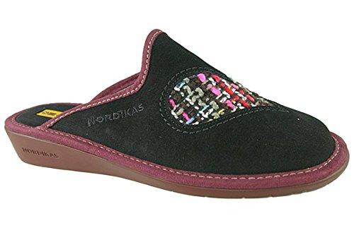 Nordika, Pantofole donna Nero Negro - negro 5 UK