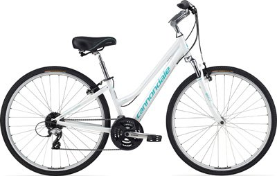 Cannondale Women's Adventure 3 Recreation Bike - White, Small