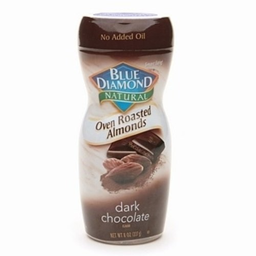 Blue Diamond Oven Roasted Almonds, Dark Chocolate, 8-ounce Container(pack of 2)