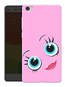 """Humor Gang Cute Pink Eyes Printed Designer Mobile Back Cover For """"Xiaomi Redmi Mi5"""" (3D, Matte, Premium Quality Snap On Case)"""