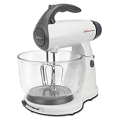 Sunbeam Fpsbsmglw Mixmaster Stand Mixer, White Kitchen Appliances