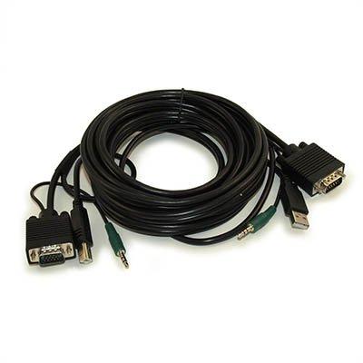 15ft KVM Cable (VGA/USB-AB/3.5mm) Combo Cable (M/M)