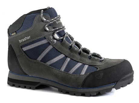 BRASHER Kiso GTX Men's Hiking Boots, Grey/Navy, UK12