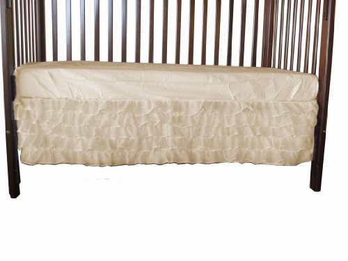 Baby Doll Layered Crib Dust Ruffle, Ivory