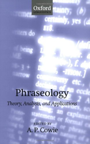 Phraseology: Theory, Analysis, and Applications
