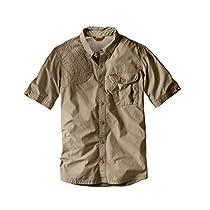 Eddie Bauer Mens Palouse Short-Sleeve Shooting Shirt, Tan L