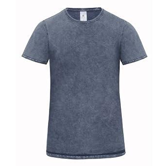 B&C Denim Editing - T-shirt 100% coton - Homme (S) (Bleu)