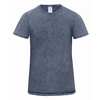 B&C Denim Editing - T-shirt 100% coton - Homme (S) (Bleu)