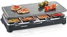 Comprar Severin RG 2343 - Raclette Grill con piedra (1500 W, 8 minisartenes, superficie antiadherente)