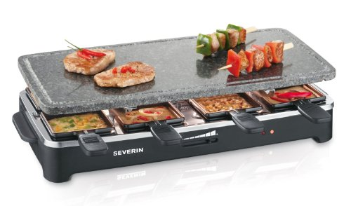 Severin RG 2343 Raclette PartyGrill in Pietra Naturale, 8 Padelline