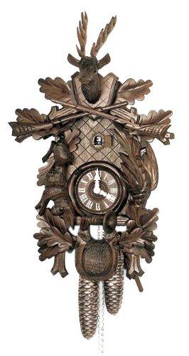 Schneider 16 Inch Black Forest Hunter Theme 8 Day Movement Cuckoo Clock
