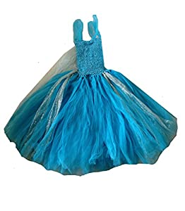 KWC - Queen Elsa Inspired Snow Snowflake Tutu & Necklace Costume