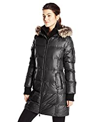 BCBGeneration Women's Down Coat with Hood and Bib