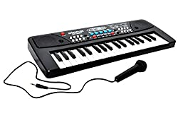 Gifts Online 37 Keys Piano With Dual Speakers,Recording , Mic And Power Saving Mode.