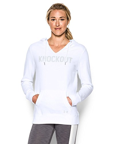 Under Armour Women's Favorite Fleece- Knockout, White (100), X-Large
