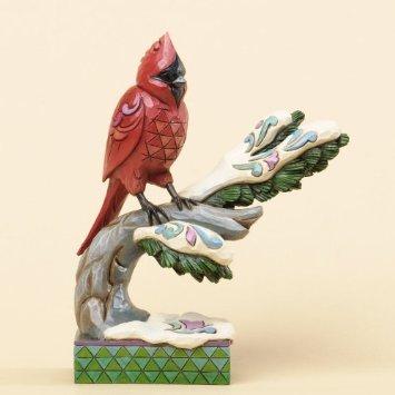Jim Shore for Enesco Heartwood Creek Winter Cardinal on Branch Figurine, 6.25-Inch