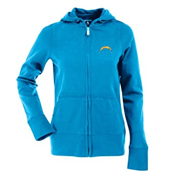 NFL Ladies San Diego Chargers Signature Full Zip Hood by Antigua