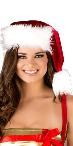 Roma Costume Sexy Santa Holiday Faux Fur Hat One Size Fits Most