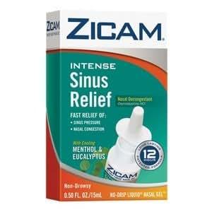 Amazon Com Zicam Intense Sinus Relief Cooling Menthol