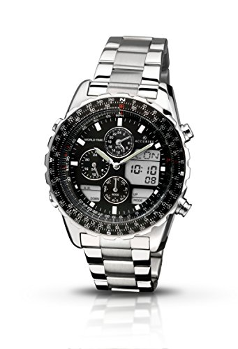 accurist-mens-quartz-watch-with-black-dial-chronograph-display-and-silver-stainless-steel-bracelet-m