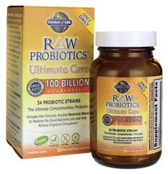 Raw Probiotics Ultimate Care 100 Billion Garden Of Life 30 Vcaps Pack Of 3 Health