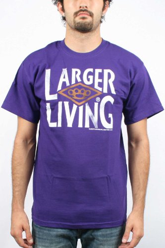 10 Deep- Larger Living Mens T-shirt in Purple , Size: Small, Color: Purple
