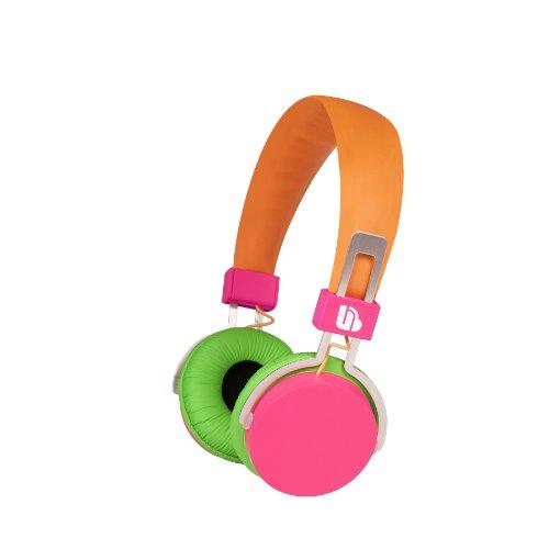 Urban Beatz Hi-Light Power Headphones - Orange/Pink/Green (M-Hl735)