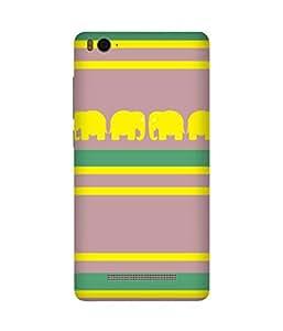 Stripes And Elephant Print (28) Xiaomi Mi 4c Case