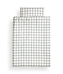 100% Cotton Plaid Crib Duvet Cover and Pillowcase Baby Nursery Bedding 2pc Navy Blue Baby Boy Duvet Cover Set