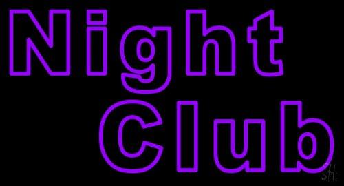 """Purple Block Night Club Neon Sign 20"""" Tall X 37"""" Wide X 3"""" Deep front-538261"""