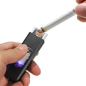 BRIQUET USB ÉCOLOGIQUE RECHARGEABLE TEMPÊTE LIGHTER FUMEUR GADGET Sans Flamme