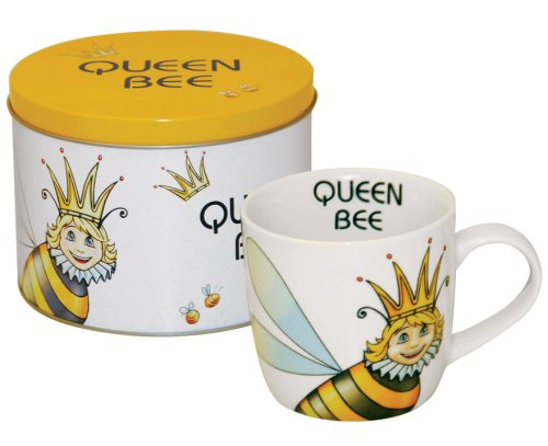 Churchill China Queen Bee Mug, Fine China, Gift Tin