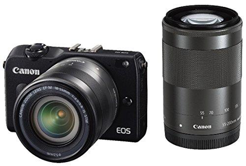 Canon ミラーレス一眼カメラ EOS M2 ダブルズームキット (ブラック) EF-M18-55mm F3.5-5.6 IS STM EF-M55-200mm F4.5-6.3 IS STM付属 EOSM2BK-WZOOMKIT