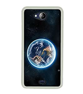 Earth 2D Hard Polycarbonate Designer Back Case Cover for Micromax Canvas Play Q355